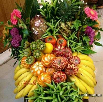 دیزاین میوه روی میز