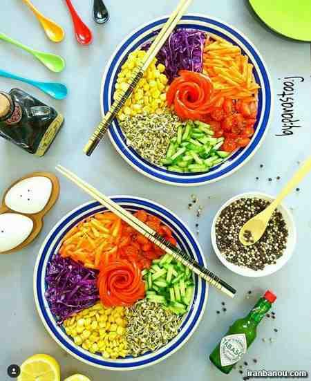 عکس انواع سالاد,انواع سالاد سبزیجات