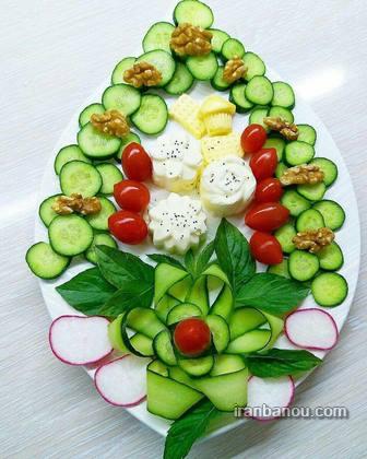 نون پنیر سبزی رولتی