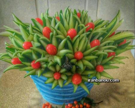 تزیین میوه یلدا