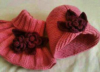 آموزش بافت شال و کلاه,بافت شال و کلاه دخترانه,آموزش بافت شال و کلاه