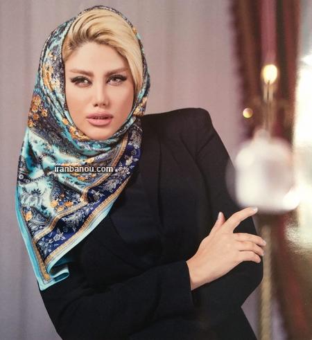عکس مدل بستن روسری لبنانی