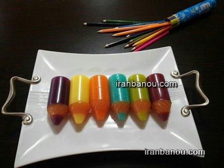 طرز تهیه ژله مداد رنگی