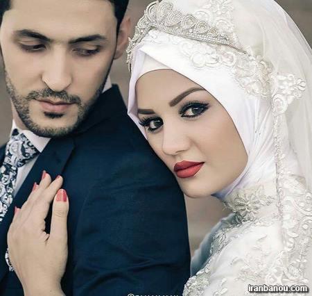 عکس عروس و داماد در حجله