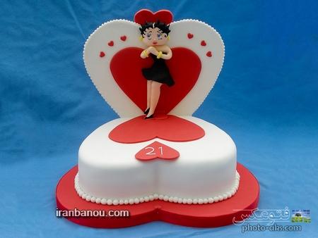طرز درست ماکت کیک تولد مدل کیک تولد عاشقانه _ کیک تولد جدید و شیک