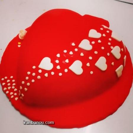 کیک تولد عاشقانه برای همسر,کیک تولد عشقم,عکس کیک تولد قلب,کیک تولد قلب شکلاتی
