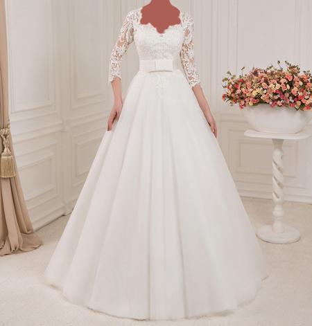 قیمت انواع پارچه دانتل شیک ترین لباس عروس های آستین دار