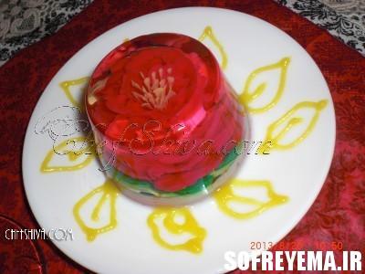 تزیین ژله گلدار