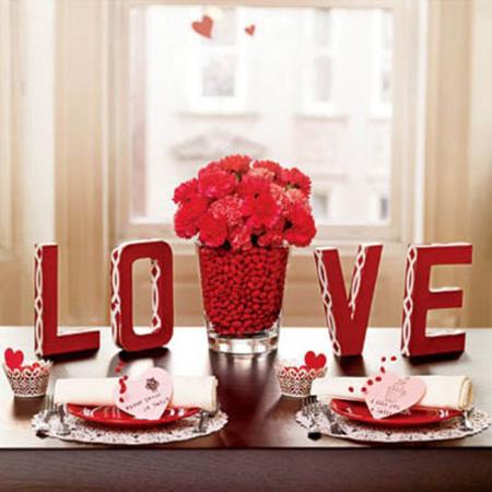 تزیینات زیبای روز عشق,چیدمان خانه برای ولنتاین