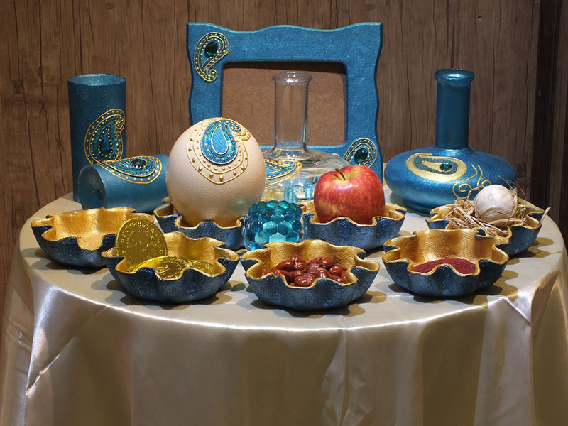مدل میز خاطره تزئینات سفره هفت سین 97