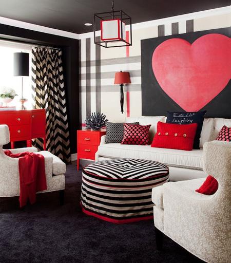 تزیین کردن خانه روز ولنتاین, تزیین دیوار برای ولنتاین