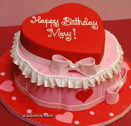 کیک تولد قلب قرمز,عکس کیک تولد عاشقانه فانتزی