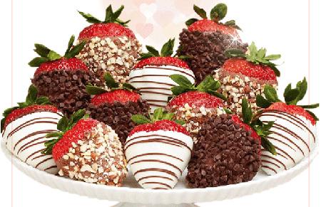 تزیین توت فرنگی با شکلات, میوه آرایی ولنتاین