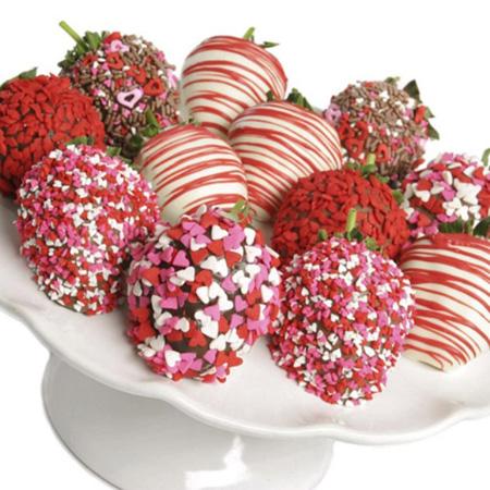 تزیین توت فرنگی,تزیین میوه با شکلات