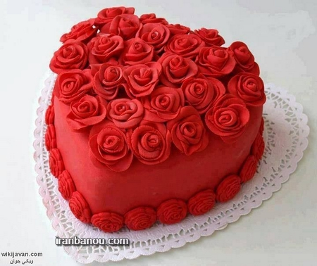 عکس کیک تولد عاشقانه