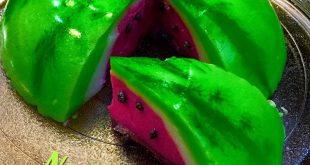 آموزش ژله هندوانه سه بعدی فیلم با توضیحات کامل