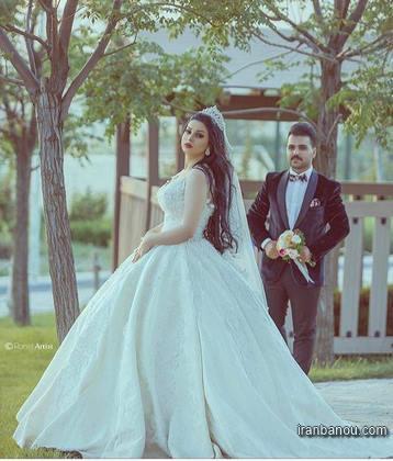 لباس ست برای عکس اسپرت عروس و داماد
