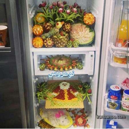 تصاویر تزیینات یخچال عروس ,جدیدترین تزیینات یخچال عروس