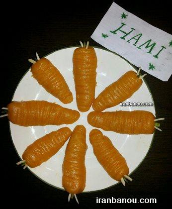 ,حلوای هویج با آرد برنج,طرز تهیه حلوای هویج با شیر
