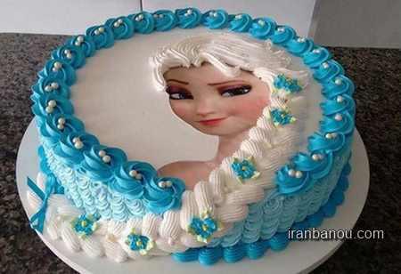 کیک تولد فروزن,کیک تولد کیتی
