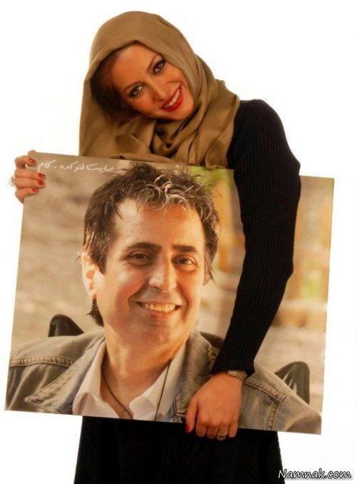 فریبا نادری و همسر اولش مرحوم مسعود رسام