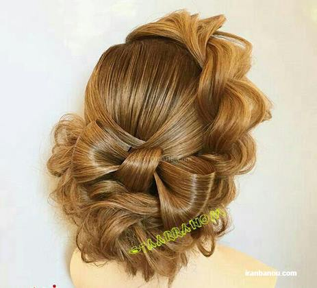 مدل موی شینیون باز و بسته عروس