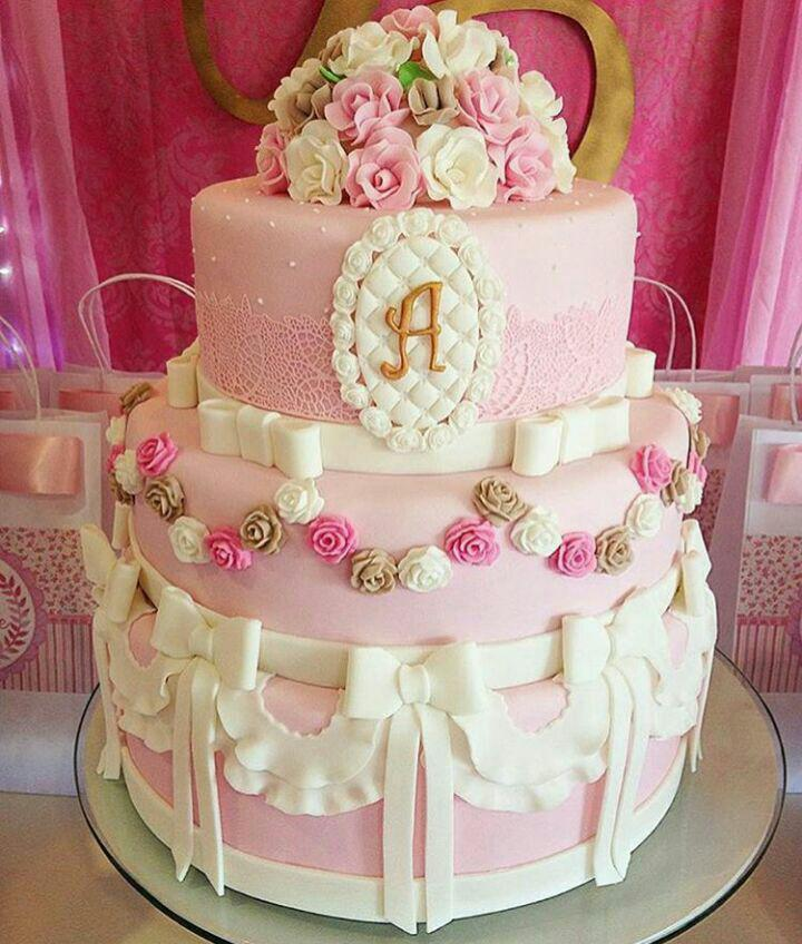 کیک تولد دخترانه, کیک تولد زیبا ,کیک تولد