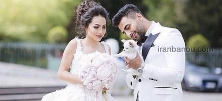 عکس عروس و داماد در تالار
