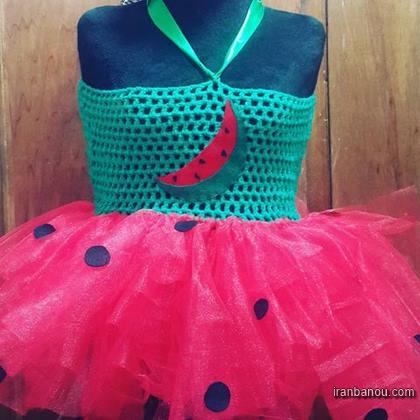 لباس بافتنی دخترانه بچه گانه