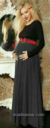 مدل لباس مجلسی بارداری حریر