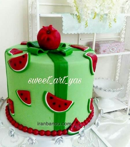 کیک شب یلدایی