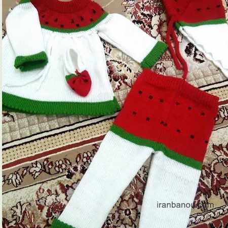 لباس شب یلدا نوزادی