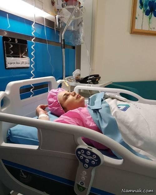 دعای درد پشت بهنوش بختیاری پس از جراحی سخت + تصاویر