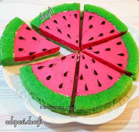 کیک شب یلدا به شکل انار