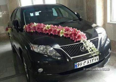 تزیین ماشین عروس پژو پارس
