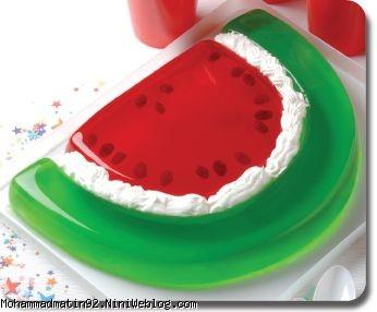 ژله هندوانه سه بعدی