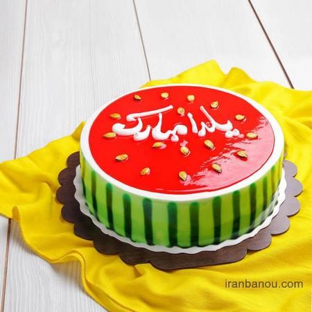 آموزش تزیین کیک شب یلدا