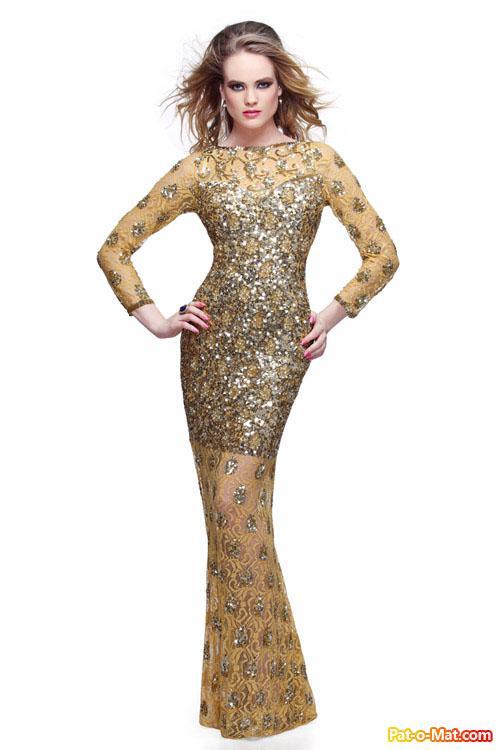 مدل لباس مجلسی Primavera Couture برای پارچه های پر زرق و برق