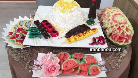 شیرینی هندوانه ای