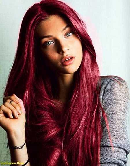 رنگ موی آلبالویی بدون دکلره