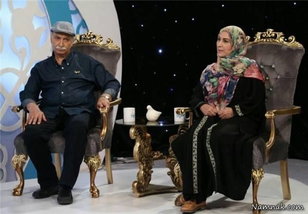 محمود پاک نیت در کنار همسرش