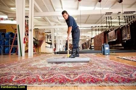 شستشوی فرش در منزل با دستگاه