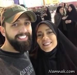 محسن افشانی ، محسن افشانی و همسرش