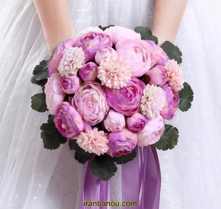 دسته گل عروس با گل مریم