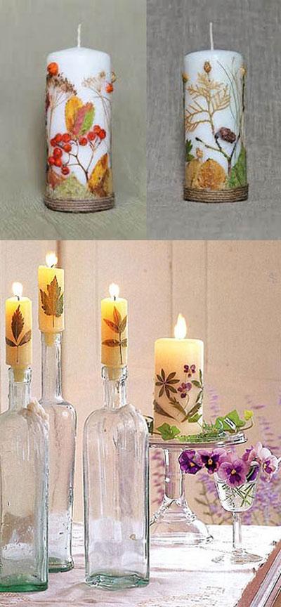 نحوه تزیین شمع, جدیدترین مدل تزیین شمع, تزیین شمع های ساده, راهنمای ساخت شمع, آموزش تزیین شمع, آموزش شمع سازی, آموزش هنر شمع سازی, بهترین مدل تزیین شمع, تزیین شمع هفت سین, نحوه تزیین شمع هفت سین, تزیین شمع با برگ خشک, تزیین شمع با برگ های پاییزی،هنر در خانه