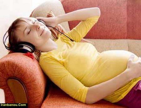 طاق باز خوابیدن در بارداری