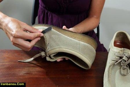 تمیز کردن کفش چرم سفید