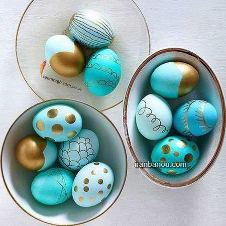 تزیین تخمه مرغ ابپز