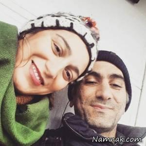 فلامک جنیدی ، عکس فلامک جنیدی و همسرش