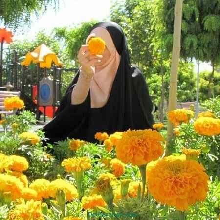 عکس دختر با حجاب کارتونی
